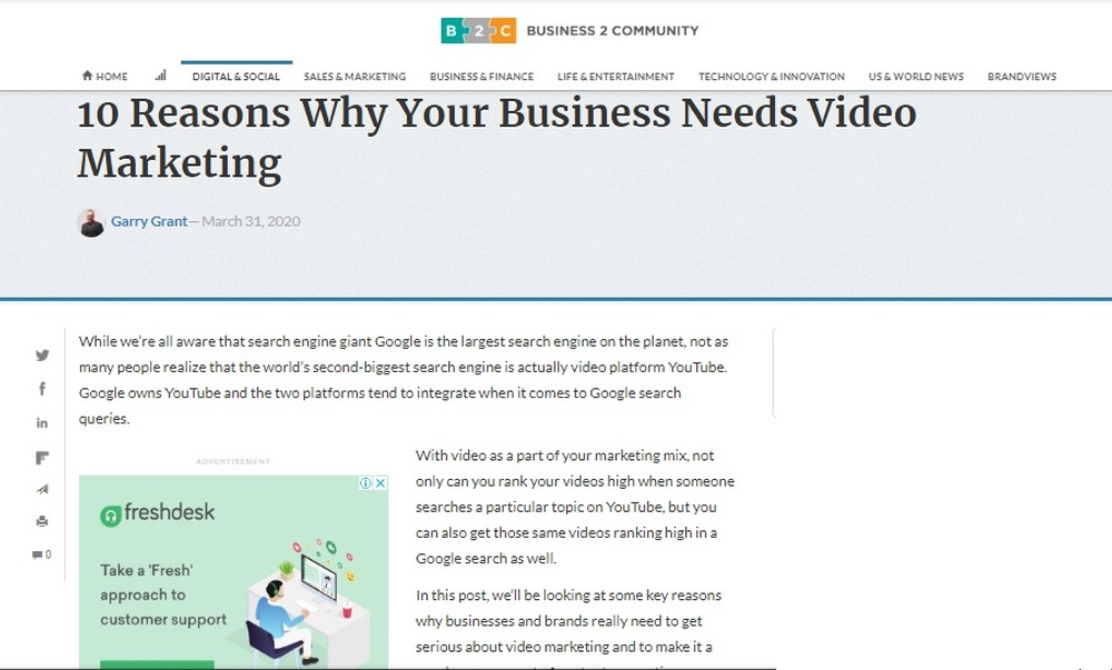 10 Reasons Why Your Business Needs Video Marketing - Business 2 Community.jpg